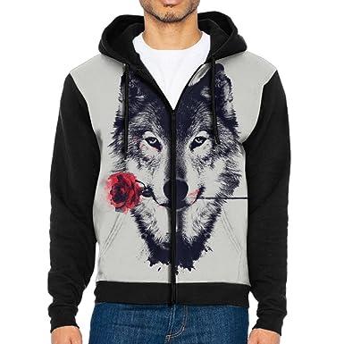 Amazon.com: Para hombre Casual trajes Sudaderas, Rosa lobo ...