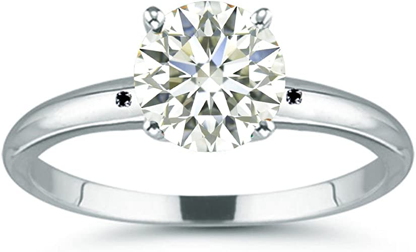 4.10 Ct Off White Moissanite Engagement /& Wedding Halo Ring 925 Sterling Silver