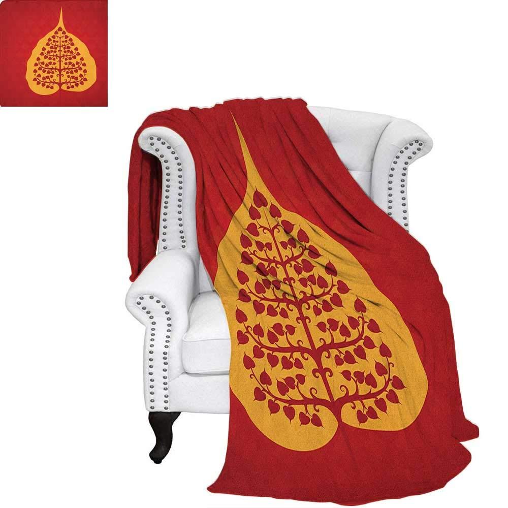 Amazon.com: Leaffluffy blanketArtistic Design of Bodhi Tree ...