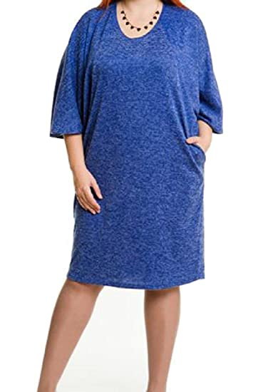BabyYoung Womens Pure Color Fit Baggy Pockets Plus Size Evening ...