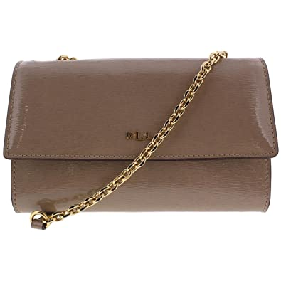 ee9fb4721554 Lauren Ralph Lauren Womens Tate Leather Mini Crossbody Handbag Tan Small   Handbags  Amazon.com