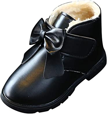 Baby Boys Girls Kids Winter Chelsea Ankle Boots Flat Trainers Casual Snow Shoes
