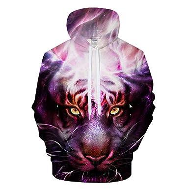 2c9a5ccc3266 Men Women Purple Tiger Cool 3D Print Hoodies Tracksuit Harajuku Sweatshirt  Streatwear Coat Pullover Hoodie Hip