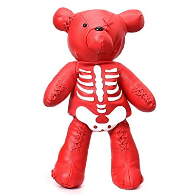 Fashion Skeleton Bear Female Backpack Punk Style School Bags Designer Backpacks for Adolescent Girls (red) | Kids' Backpacks
