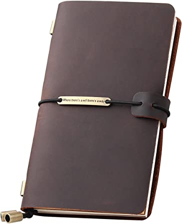 Amazon Com Leather Journal Refillable Travelers Notebook
