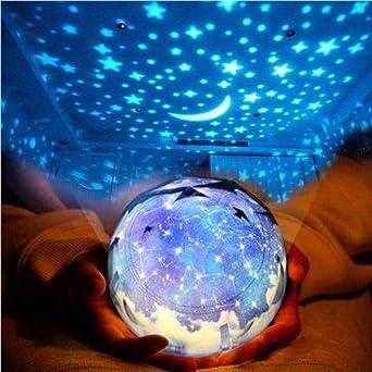 Mesita de noche luz romántica estrella proyector lámpara creativa ...