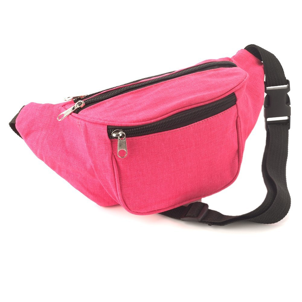 Bright Neon Pink Fabric Bum Bag / Fanny Pack - Festivals /Club Wear/ Holiday Wear