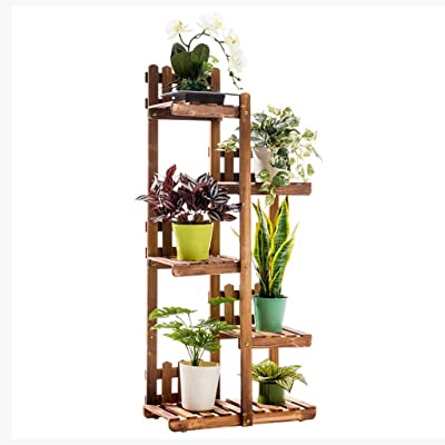 Pergolas Flower Stand Flower Stand Multi-Layer Flower Stand Floor Solid Wood Flower Stand Balcony Pot Rack Living Room Potted Flower Stand Balcony Flower Rack (Color : Brown, Size : 2755124cm): Garden & Outdoor