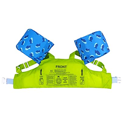Toddler Arm Floaties Swim Aid with Water Wings and Shoulder Strap As A Jumper Gogokids Kids Pool Floats Swim Vest Life Jacket for 2-6 for 30-50 lbs Boys and Girls Children Puddle//Beach