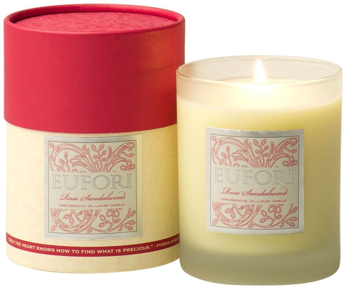 rareEarth Eufori Rose Sandalwood Candle