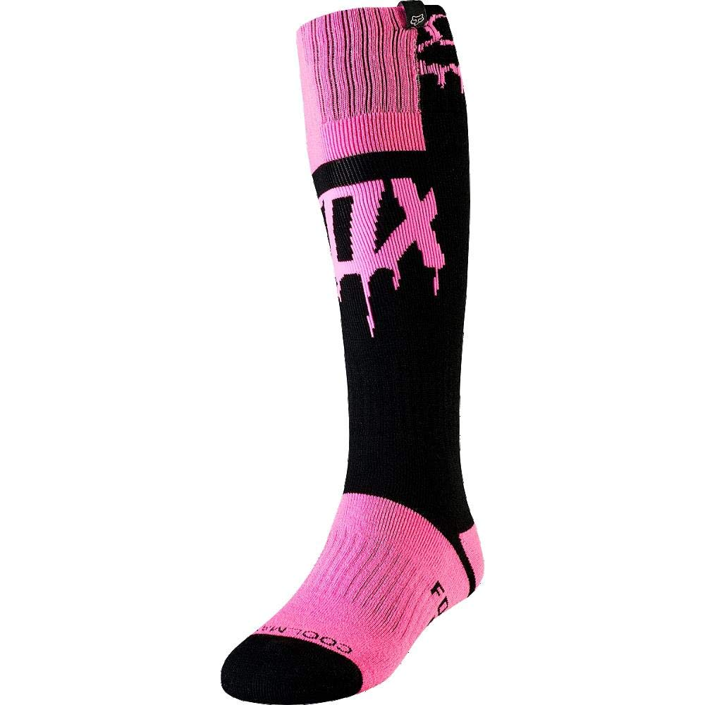 2019 Fox Racing Womens Mata Drip MX Socks-Black//Pink 21800-285-OS