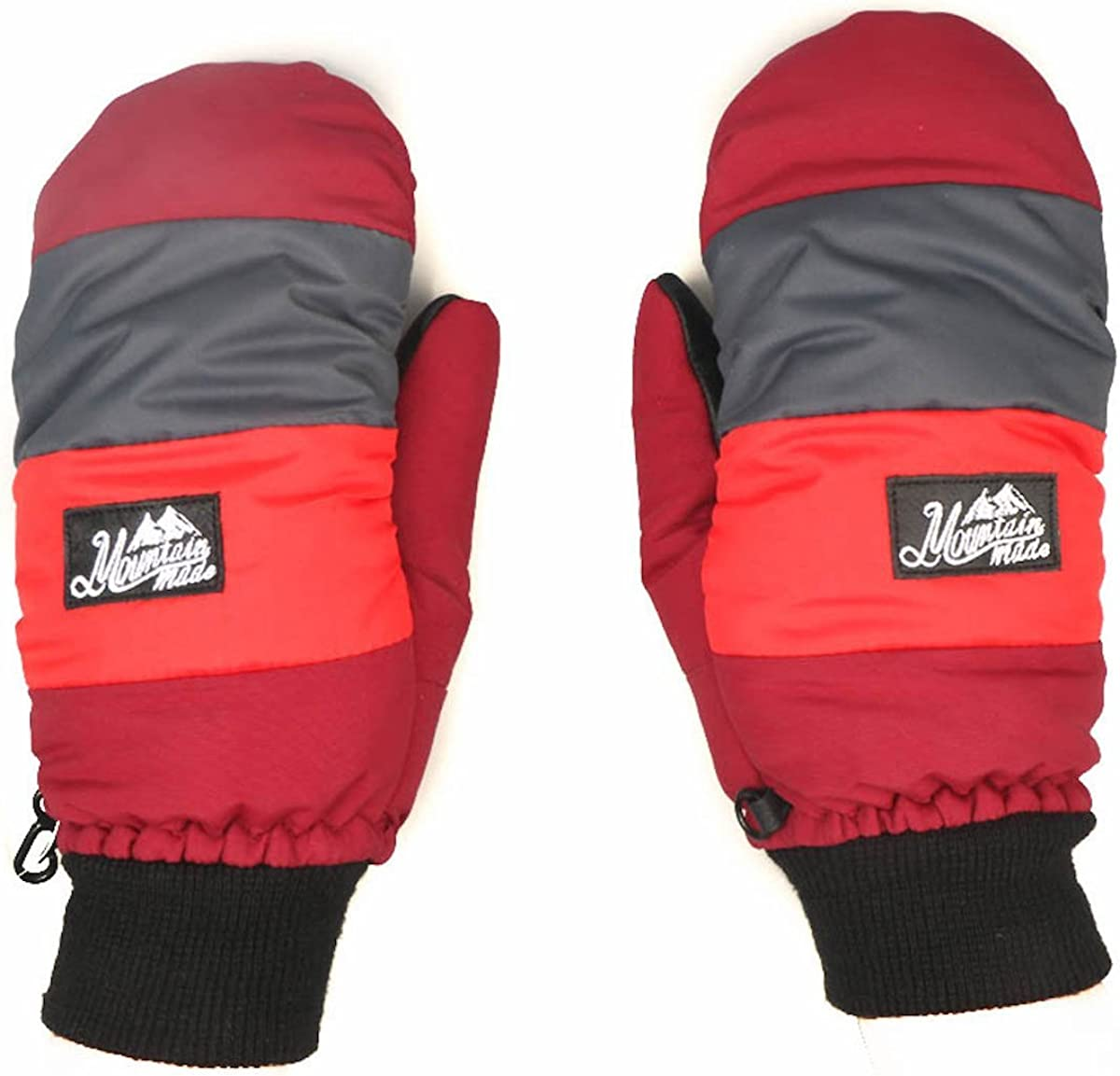 Mountain Made Cold Weather Winter Mittens For Men and Women Medium, Red