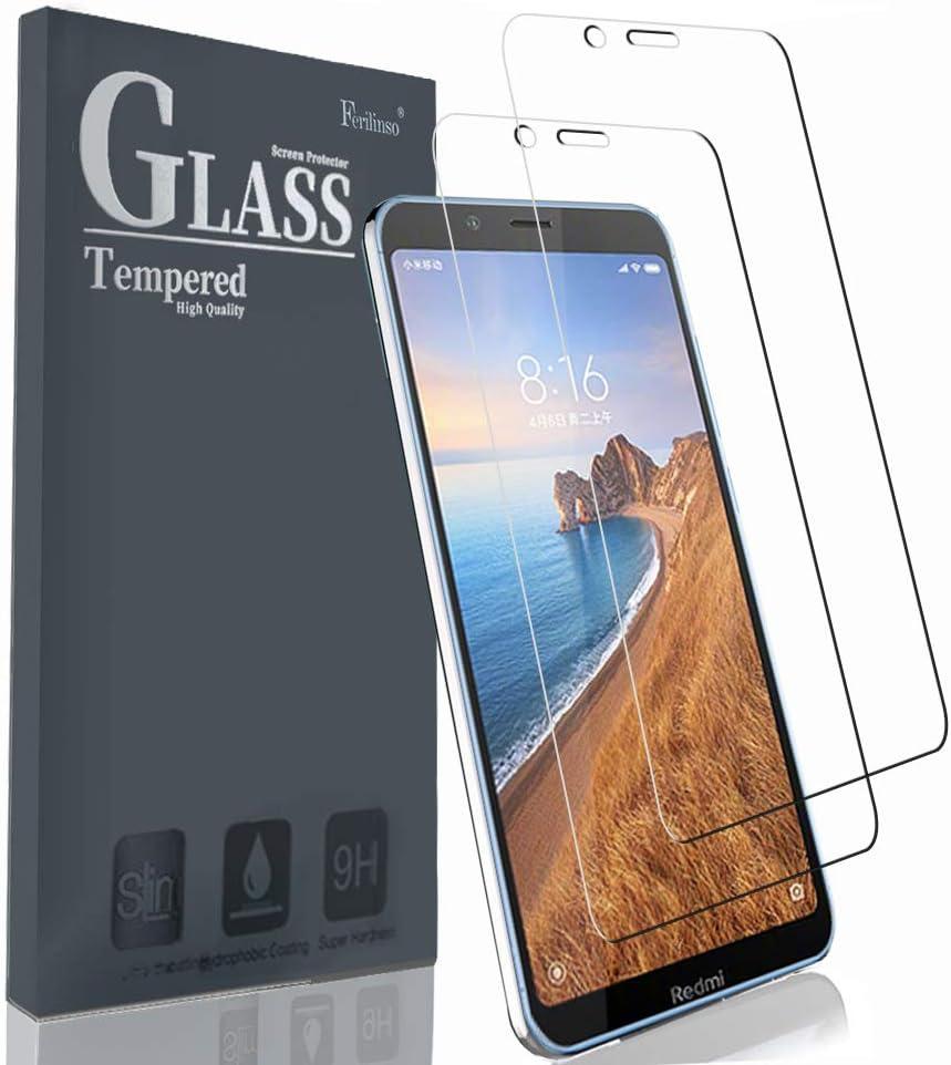 Ferilinso Cristal Templado para Xiaomi Redmi 7A,[2 Pack] Protector ...