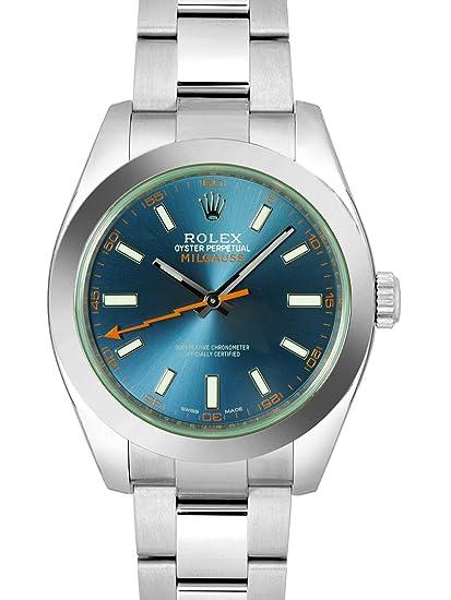 cheaper e3f03 dba0b Amazon | [ロレックス] ROLEX 腕時計 ミルガウス Zブルー ...