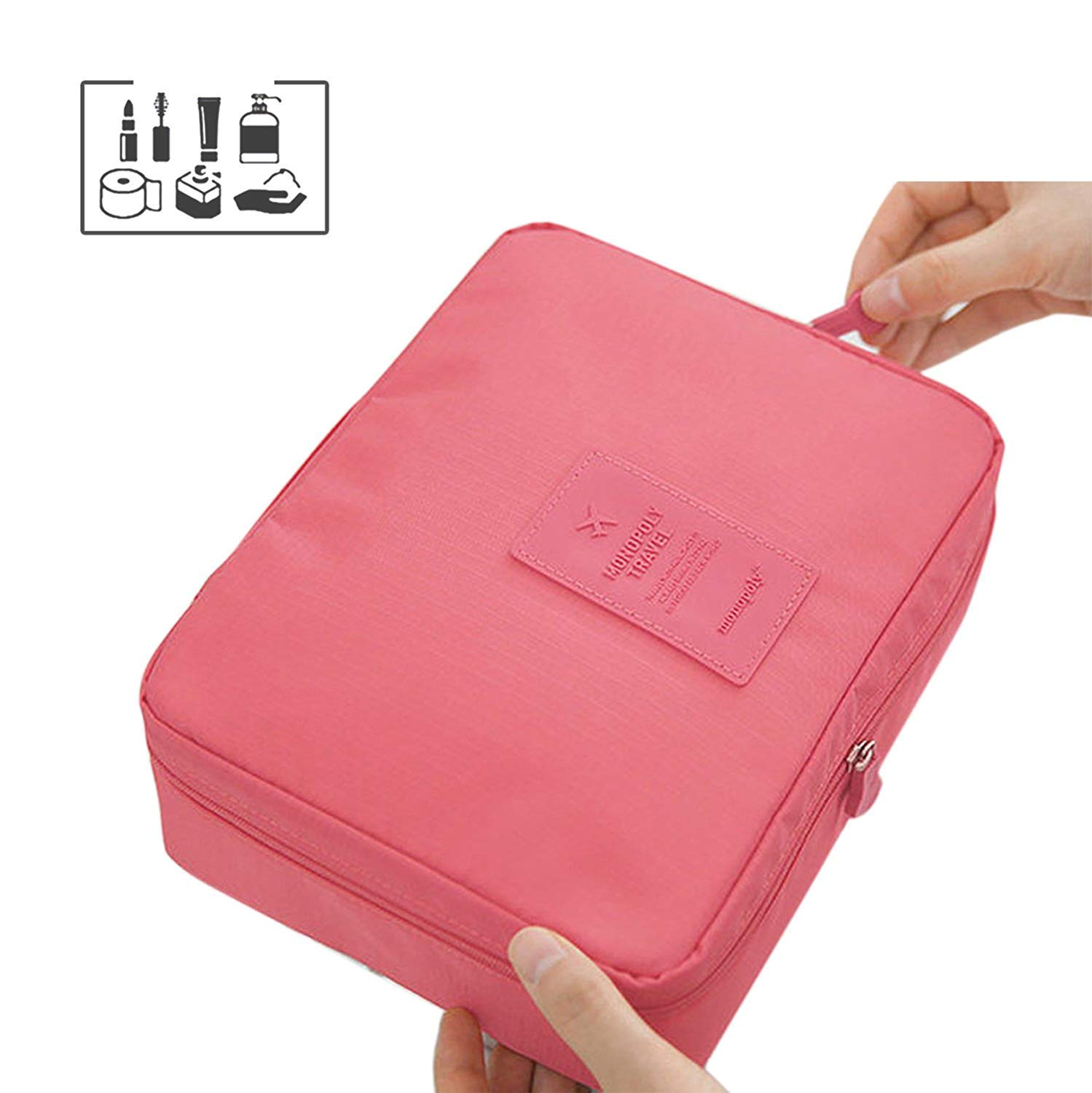 Multifunction Cosmetic Bag Portable Travel Makeup Bag Organizer makeup Storage Bag for Women Ladies Girl Yakuro