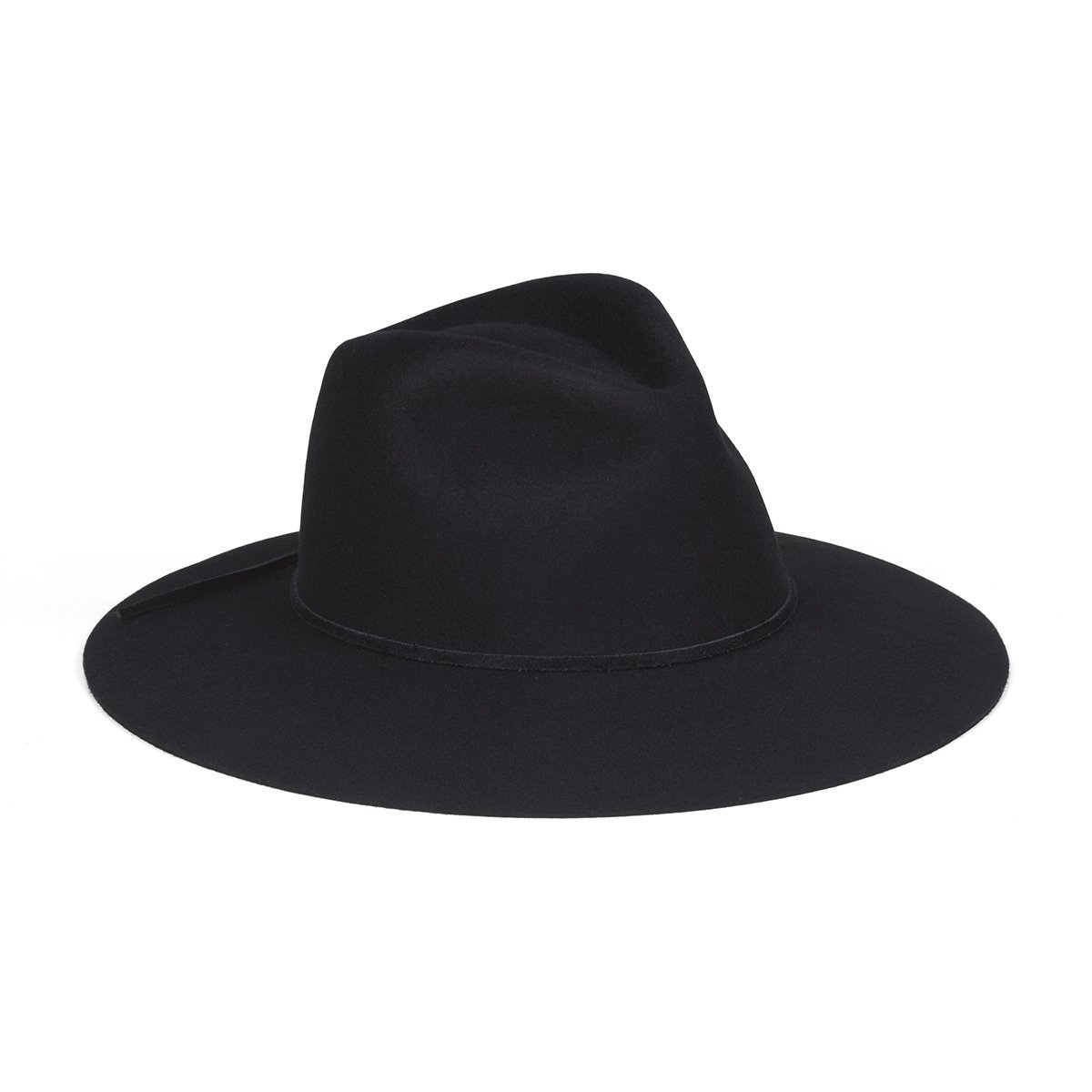 Lack of Color Women's The Paco Dome-Brimmed Fedora (Black, Medium (57cm))