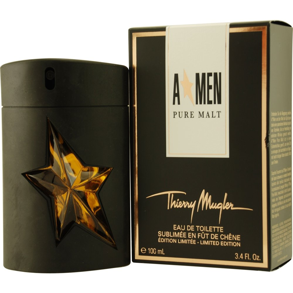 Angel Men Pure Malt by Thierry Mugler Eau De Toilette Spray (Limited Edition) for Men, 3.40 Ounce