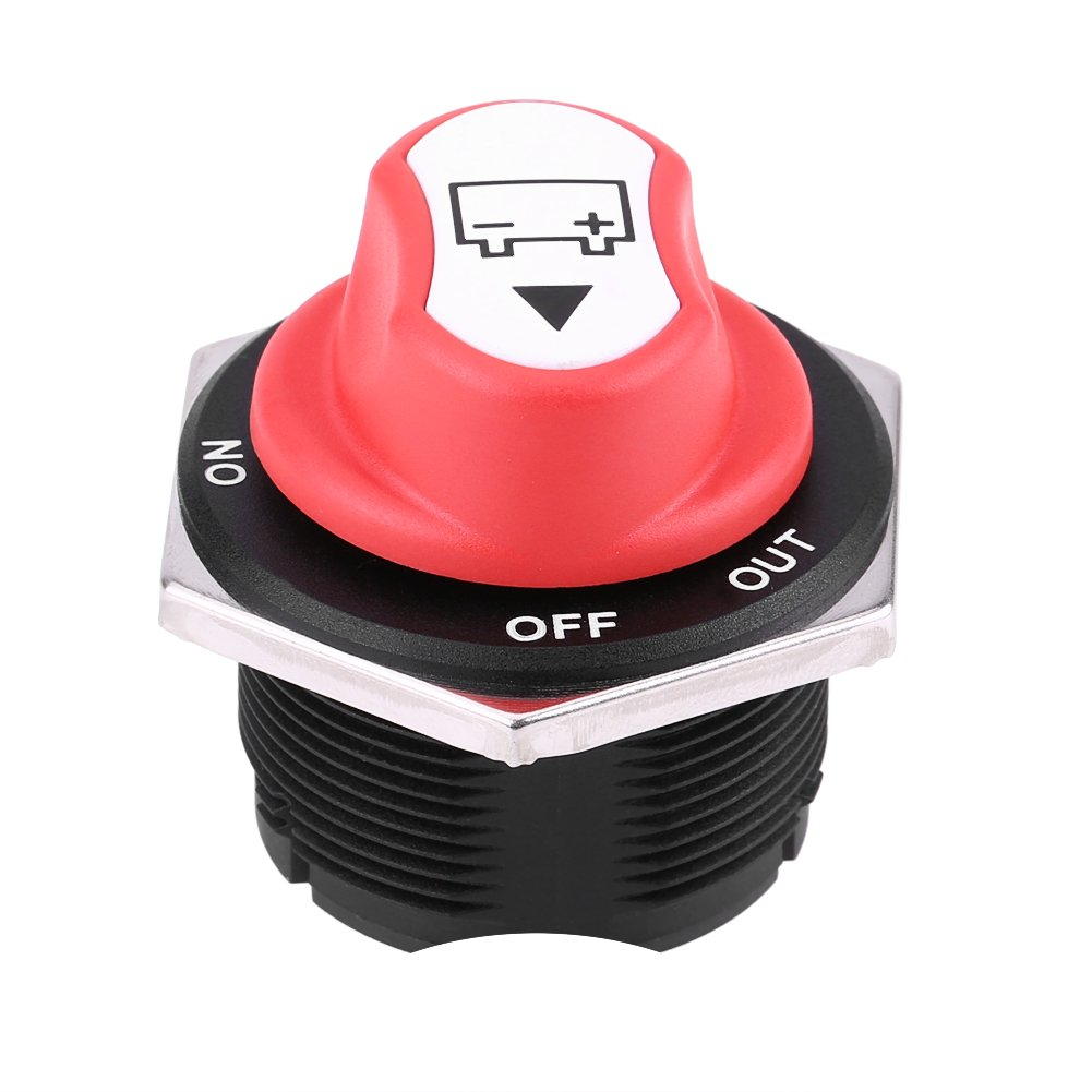Walfront 32V DC 200A CONT 300A INT On/Off Battery Disconnect Switch for Cars/Off Road Vehicle/Trucks