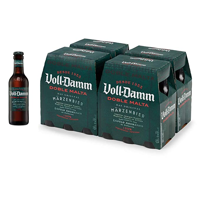 Voll-Damm Cerveza - Paquete de 12 x 250 ml - Total: 3000 ml ...
