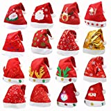 OxoxO 8 Pack Christmas Hat for Childrens and Adults, Non-woven Hats for Celebrations and Recreation