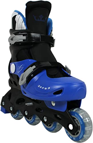 Krown Kids Adjustable Inline Skates Boys and Girls Fits Y13 9 Superspeed