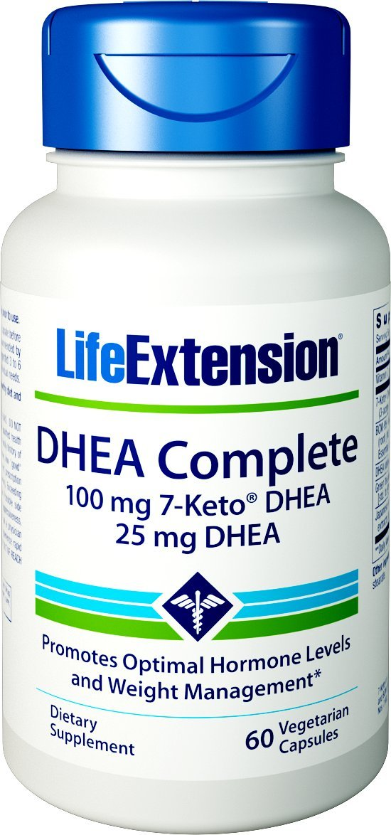Life Extension Dhea Complete (7-Keto Dhea 100 mg and Dhea 25 mg), 60 Vegetarian Capsules