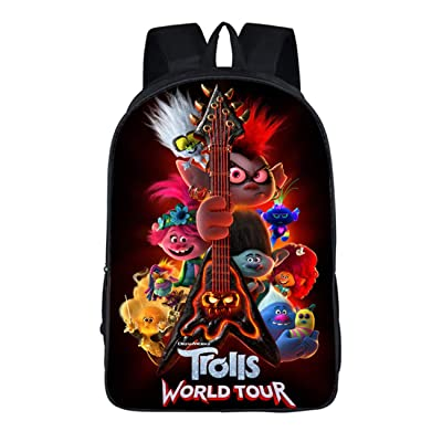 GD-Tshirts Kids Trolls Backpack-Boys Girls Back to School Bookbag Lightweight Bag-Backpacks for Travel, Outdoor: Clothing