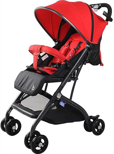 Opinión sobre Cochecito, Amortiguador Compacto de Cuatro Ruedas, Cochecito de Paraguas Plegable portátil reclinable de Alto Paisaje para niños