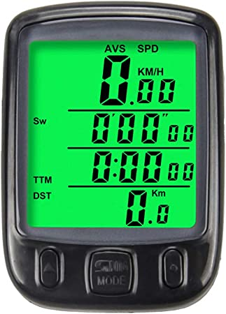 Bike Waterproof Code Table Speedometer Bicycle Digital LCD Computer Odometer UK