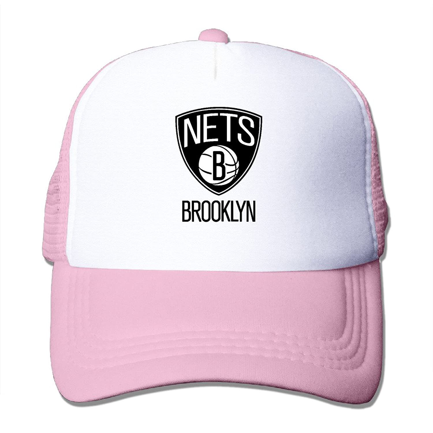 Causal Brooklyn Nets Logo Adult Nylon Adjustable Mesh Hat Mesh Hat RoyalBlue One Size Fits Most