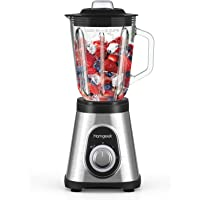 homgeek Blender Smoothie 700W,Stand Blender with 1.5L Tempered Glass Jar, 27,000 RPM and 6 Stainless Steel Blades…