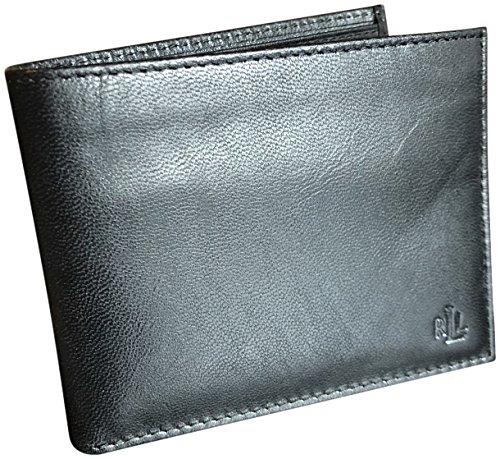 Mens Billfold Leather Boxed Passcase Ralph Black Lauren Lauren Wallet Ralph 1qv7xZwRpy