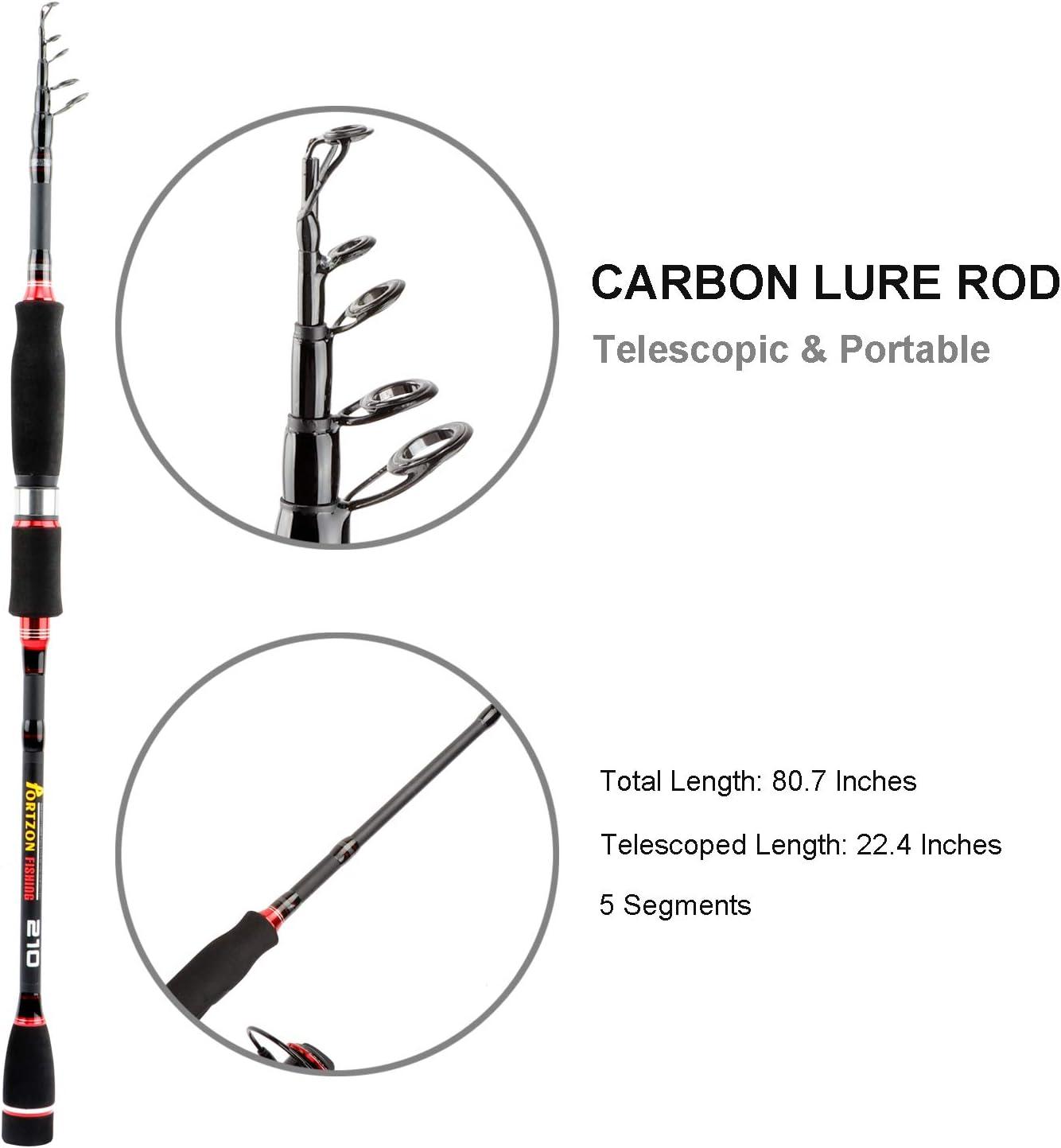 Portzon Fishing Reel Telescopic Fishing Rod and Reel Combos Full KitPortzon Spinning Reel, 5.1 1,7000 Fishing Reel Spinning, Freshwater Reel Fishing Gear for Lack Reservoir Pond Stream Travel