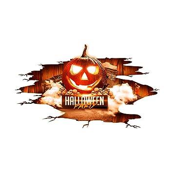 Floridivy 3d Letter Kurbis Boden Wand Kunst Aufkleber Halloween
