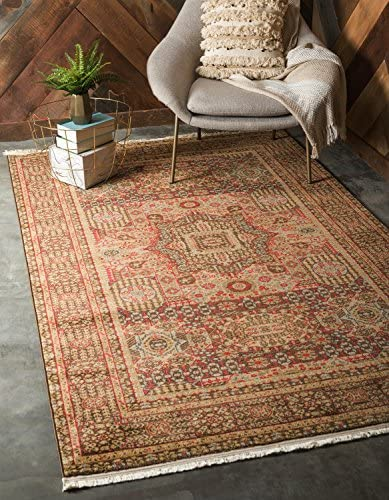Unique Loom Palace Collection Traditoinal Geometric Classic Brown Area Rug 13 0 x 18 0