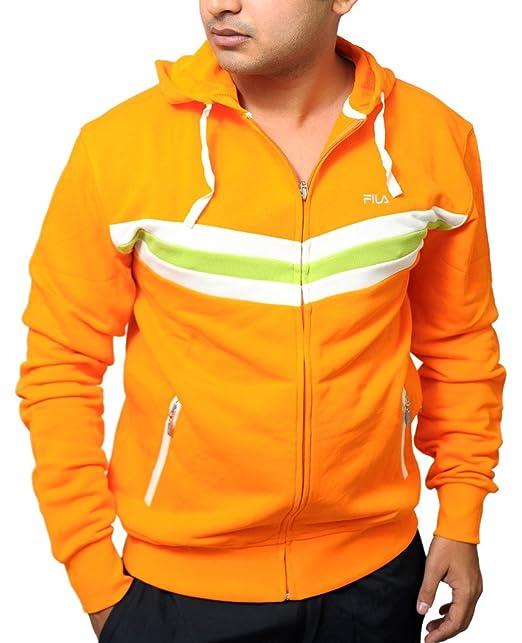 Fila - Sudadera de Sudadera con Capucha para Hombre F/Cremallera Naranja: Amazon.es: Ropa y accesorios