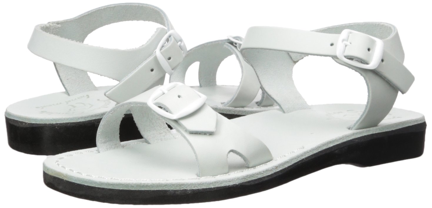 Jerusalem Sandals Women's Edna Sandal B075KYVZ1W 38 Medium EU (7-7.5 US)|White