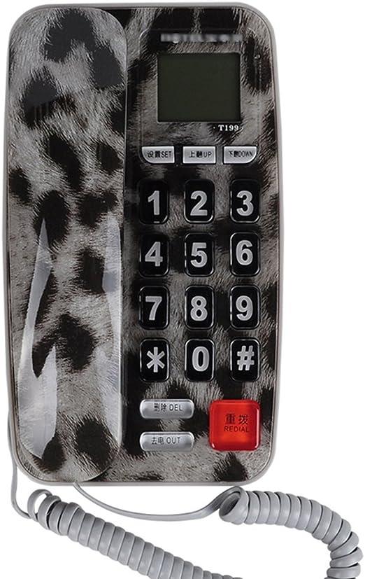 Teléfono de Identificación de Llamadas telefónicas teléfono de Pared Fijo teléfono del Cuarto de Baño teléfono Familiar Hotel de Negocios 176 * 104 * 70 mm (Color : C): Amazon.es: Hogar