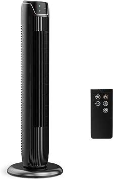 Turmventilator mit Fernbedienung Ventilator Timer Säulenventilator Schwarz 3Modi