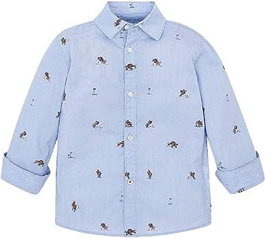 Mayoral Camisa Manga Larga Estampada niño Modelo 4121: Amazon ...