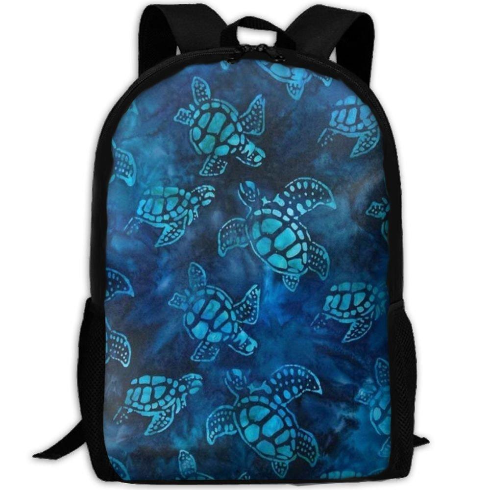 klnsha7水彩ブルーSea TurtleスクールBookbagsバッグリュックサックのガールズ旅行バックパックキャンバスバックパックショルダーBookbags   B07G2P8FXR