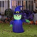 Gemmy 73108 Halloween Airblown Attitude Witch Lighted Inflatable, 9-7/8'' X 8-7/16'' X 7-7/8''
