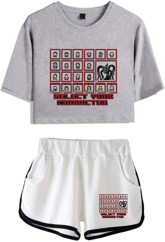 King-mely Stranger Things Saison 3 Un /ét/é Peut Tout Changer T-Shirt en T-Shirt Et Short V/êtements De Costume pour Filles Et Femmes