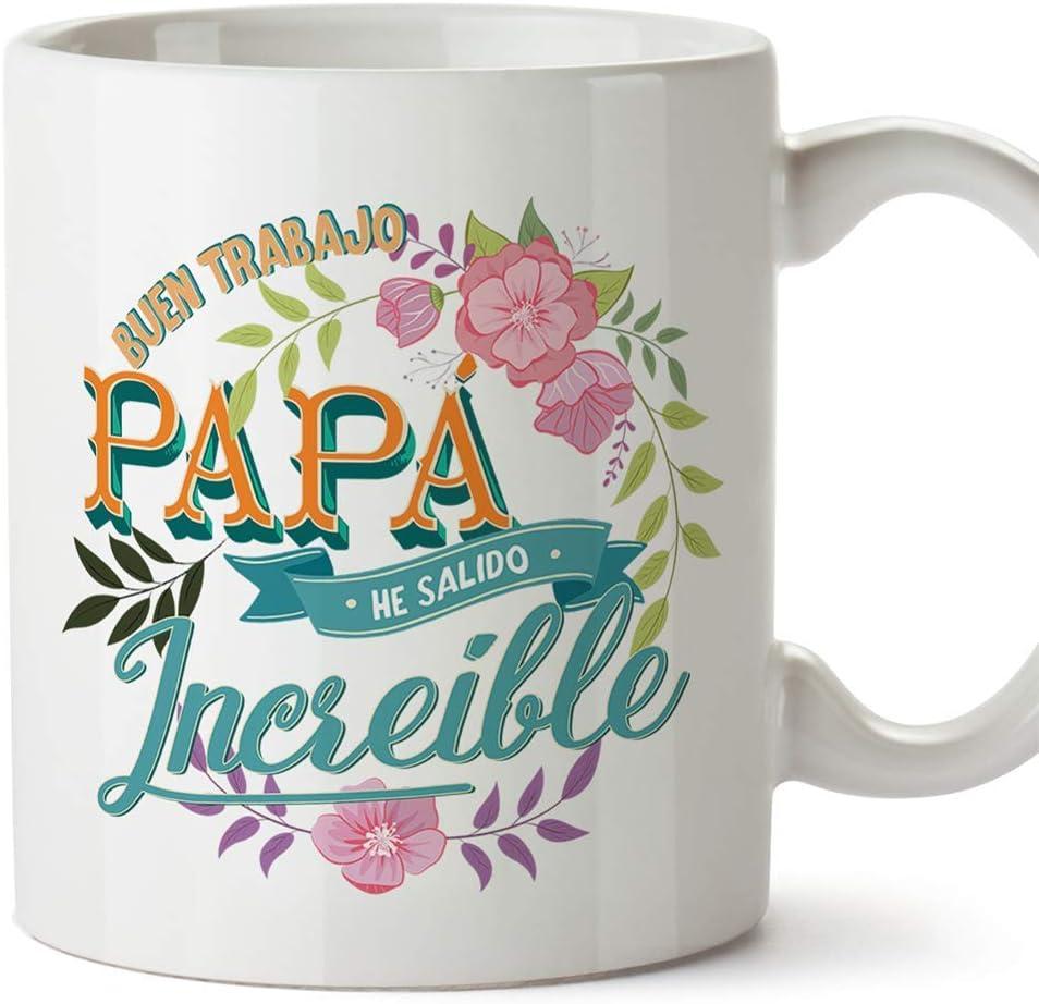 MUGFFINS Taza Padre (Buen trabajo Papá() - Regalos Originales y Divertidos para el Día del Padre