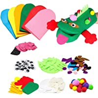 JuYinShop DIY Felt Hand Puppet Making Materials Kit Lovely Animals Theater Craft Fabric Story Telling Gloves Role Play…
