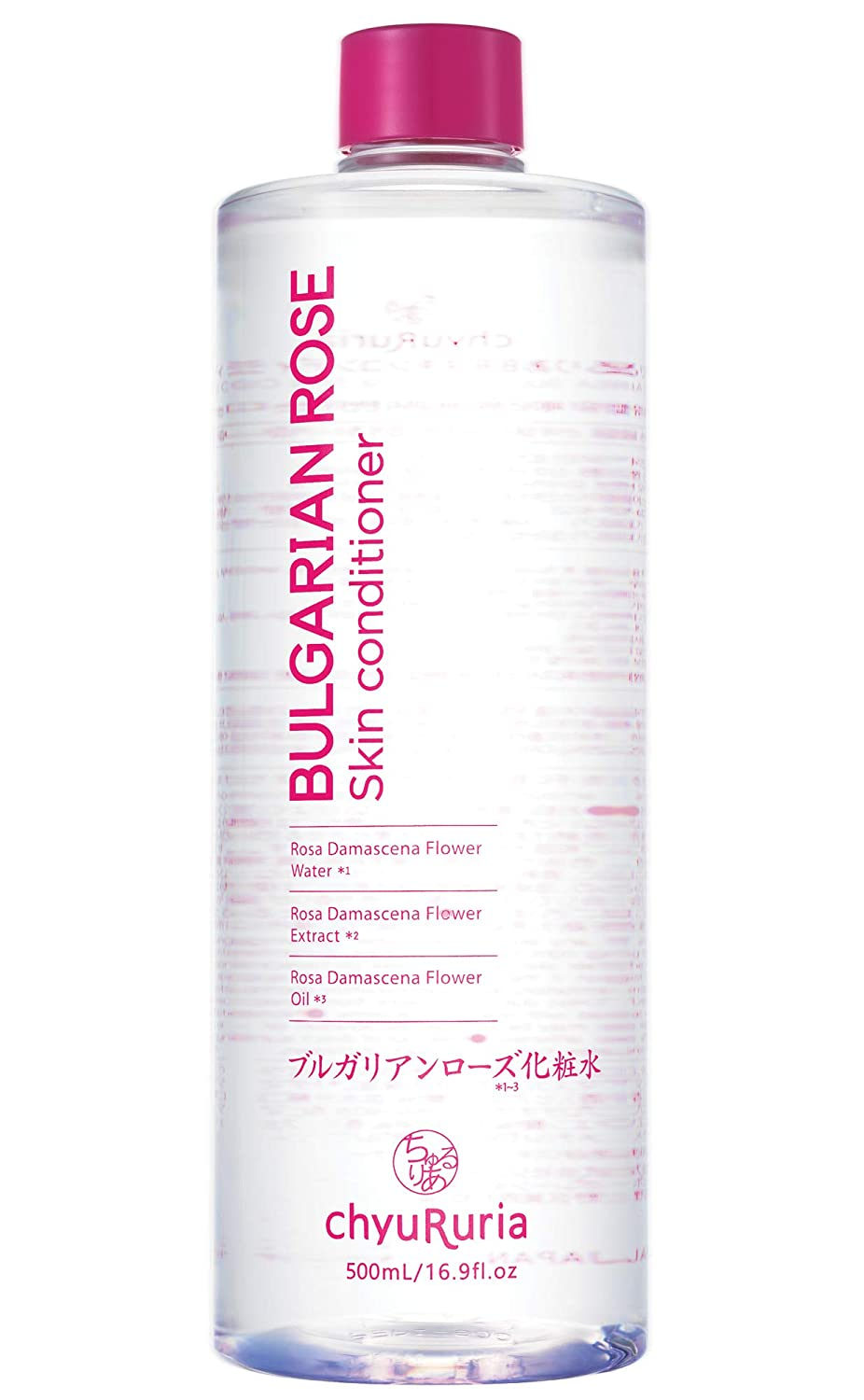 Chyururia Bulgarian Rose Skin Conditioner with Rose Water & Oil, Face Toner for Normal Skin, Product of Korea - 16.9 fl. oz