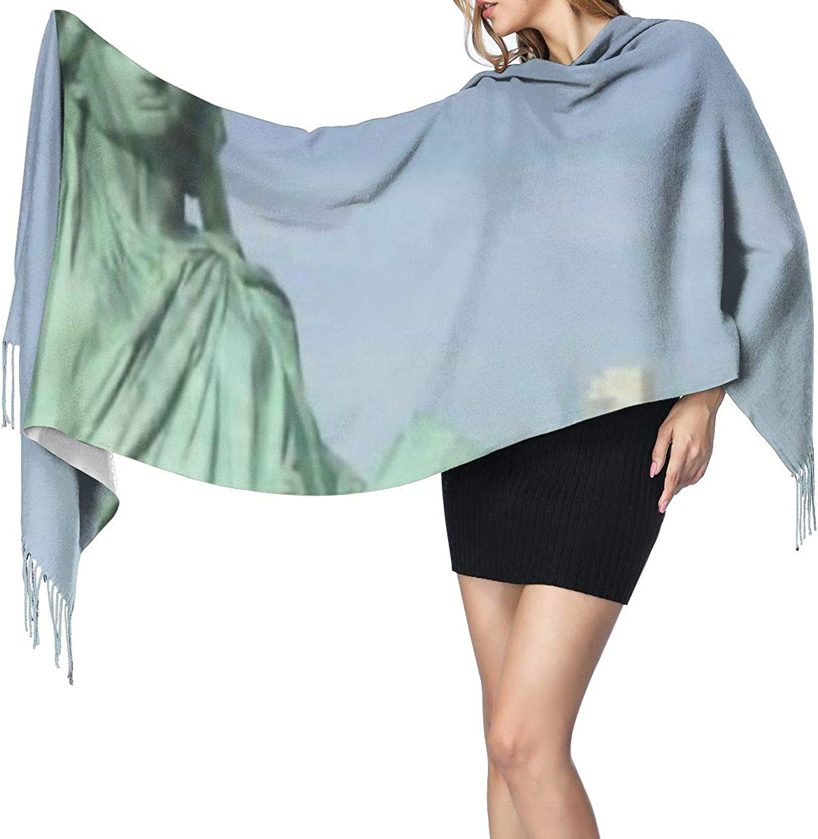Soft Cashmere Scarf For Women Usa Statue Of Liberty Fashion Lady Shawls,Comfortable Warm Winter Scarfs
