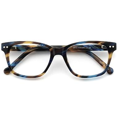 OCCI CHIARI Optische Brillen Rahmen Damen Sonnenbrille Bunte Metall Dekoration flexible Oval Brillen Rahmen mit Federscharnier Frauen k4zObcSts