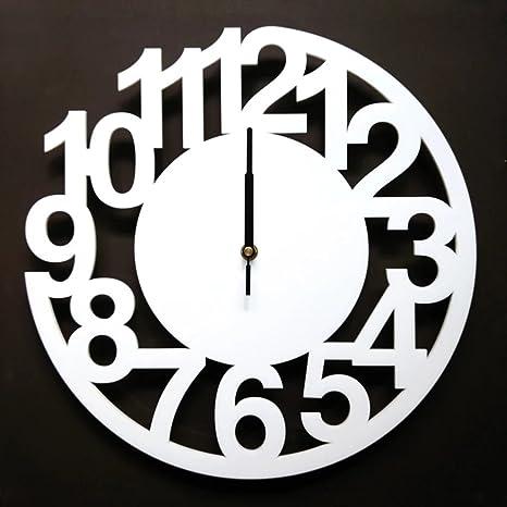 Simple arte Digital reloj de pared Moderno Mute reloj de pared grande reloj de pared Creative