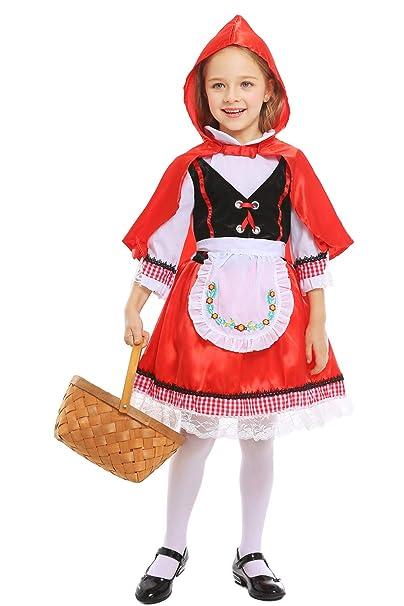 Amazon Com H Zy Girls Halloween Little Red Riding Hood Costume